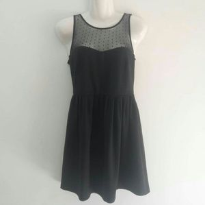 ZARA Black Lace Mini Dress L